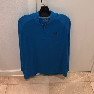 Blue under armor sweatshirt